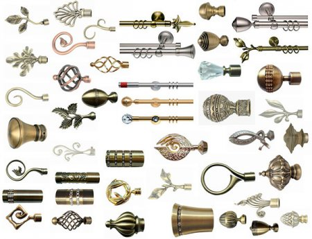 Разновидности металлических карнизов для штор
