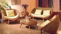 Плетеная мебель из ротанга в офисе