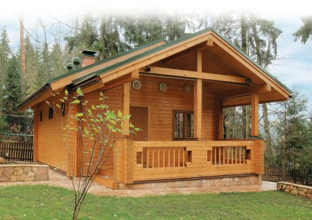 Как построить деревянную баню или коттедж из срубов