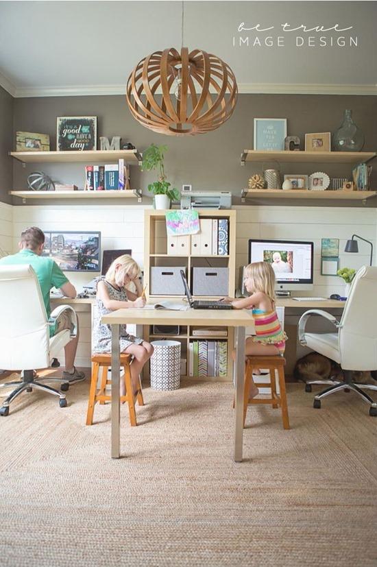 Домашний офис для самых маленьких: рабочее место школьника