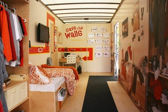 Интерьер комнаты для студента