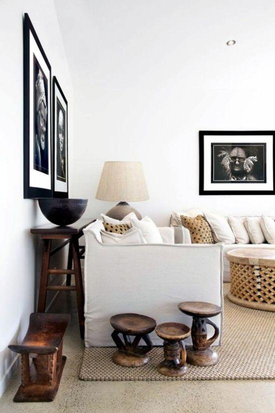 Как создать интерьер гостиной с африканскими мотивами