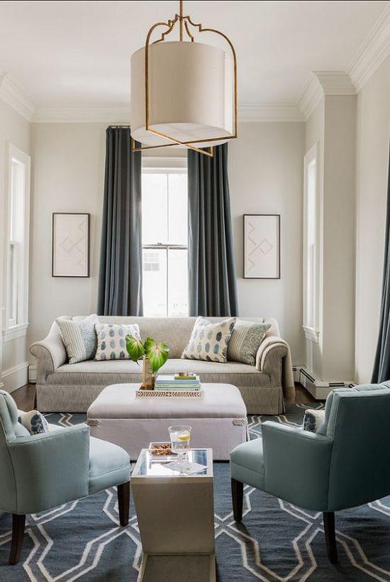 Классический интерьер гостиной в американском стиле