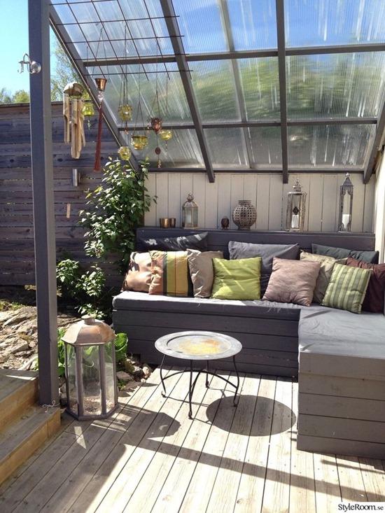 Летняя терраса на крыше: зона отдыха на крыше жилого дома
