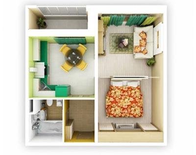 Небольшая квартира: оптимальные идеи интерьера однокомнатной квартиры
