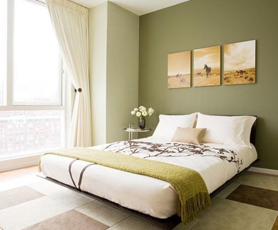 Одноцветная спальня: варианты и идеи