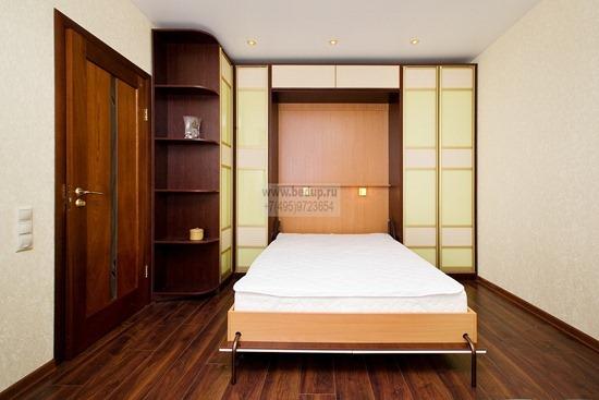 Откидная кровать в интерьере