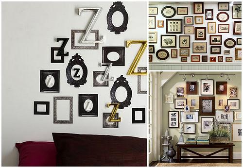 Рамки на стенах в декоре и дизайне интерьера