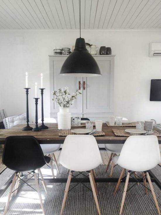 Рустикальный стиль в интерьере столовой