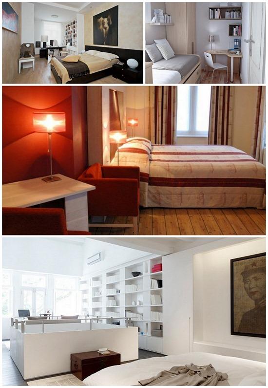 Спальня… и кое-что еще. Как объединить спальню с другим функциональным помещением